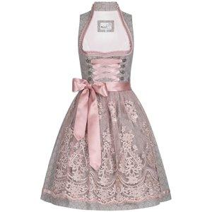 MarJo Vestido corsage gris-rosa empolvado