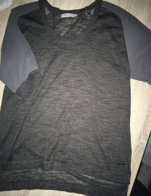 Calvin Klein Jeans T-shirts en mailles tricotées gris anthracite-gris