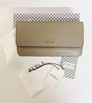 Furla Wallet silver-colored leather