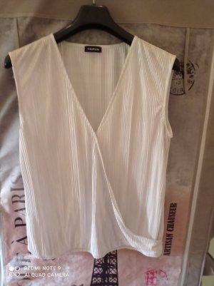 Taifun T-shirt col en V blanc-argenté