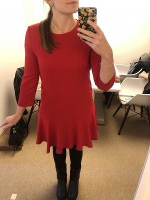 Hallhuber Flounce Dress red