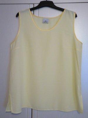 Fabiani Basic Top pale yellow viscose