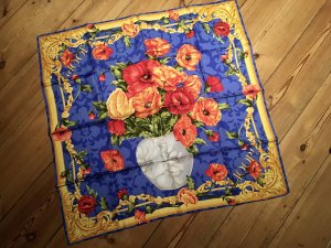 Joop! Zijden doek blauw-goud Oranje