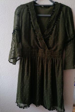 Zara Longsleeve Dress black-green grey