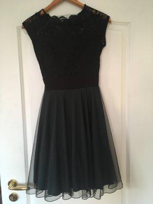 Edles Kleid Konfirmationskleid Ballkleid schwarz/dunkelgrün