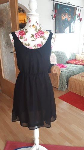 Edles Kleid,schwarz mit abnehmbarer Kette am Rückenausschnitt, neu,Gr.36