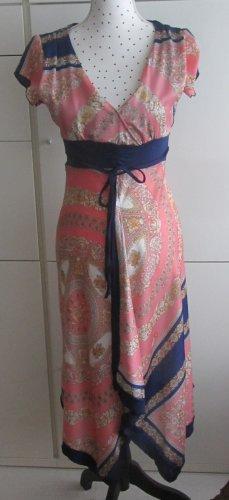 edles Kleid von Lady Lol Paris Gr. 34/36 Dunkelblau Bunt Paisley