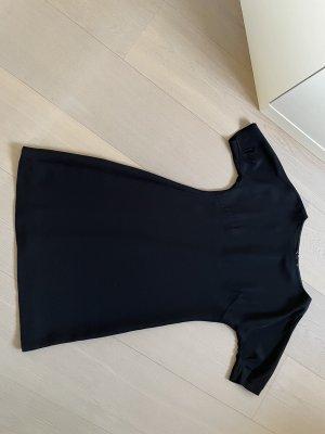 Prada Robe trapèze noir tissu mixte