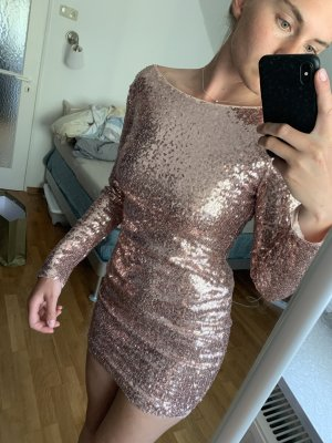 Club L London Evening Dress rose-gold-coloured