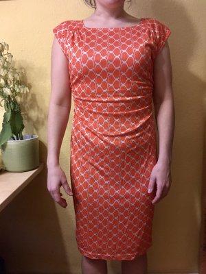 Laurèl Evening Dress neon orange-natural white