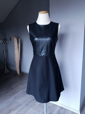 Zara Basic Leather Dress black