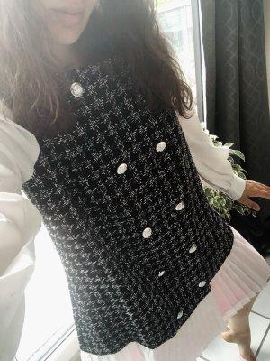 Gabardina tipo vestido negro-blanco