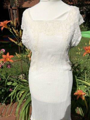Edles Mes Demoiselles Paris Seiden Kleid mit traumhafter Spitze Gr. 36/38