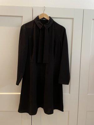 Mango Mini vestido negro tejido mezclado