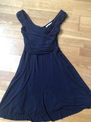 Robe stretch bleu foncé coton