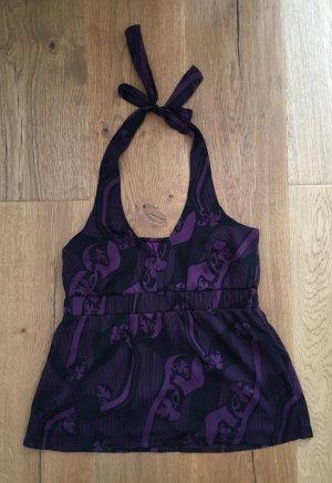 Vero Moda Haltertop zwart-lila