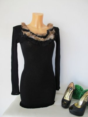 Edles Princess goes Hollywood Kleid Fellbesatz Spitze Gr. 34 - 36