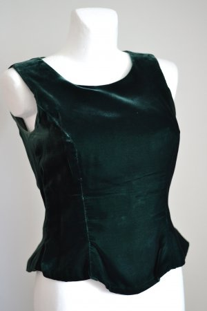 C&A Corsage Top forest green acetate