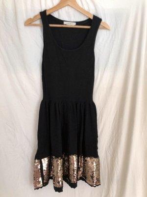 Edles Sandro schwarzes Kleid mit Pailletten in Gr. 1