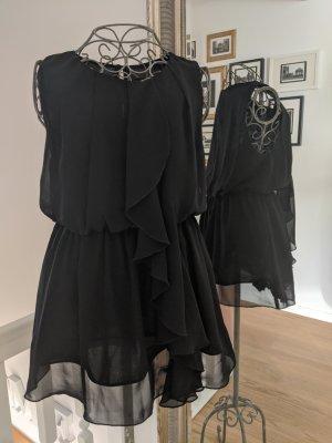 H&M Top con balze nero