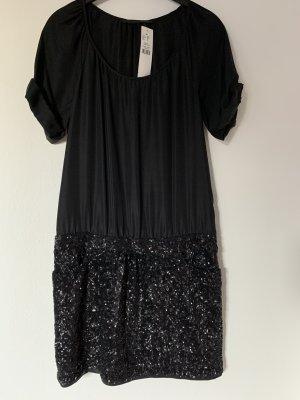 Set Robe à paillettes noir soie