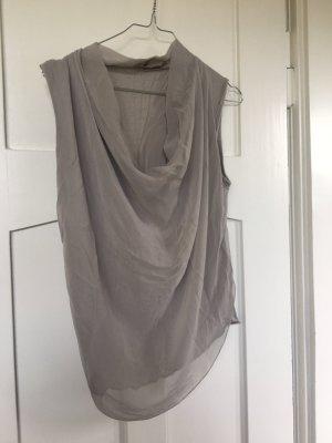conbipel Cowl-Neck Top grey brown