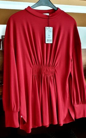 Mango Camicia a tunica rosso scuro