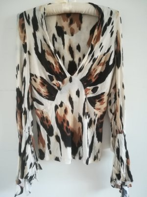 Roberto Cavalli Top taille empire multicolore