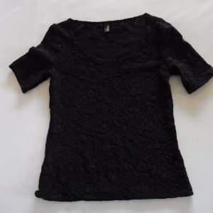 Marc Cain Mesh Shirt black mixture fibre
