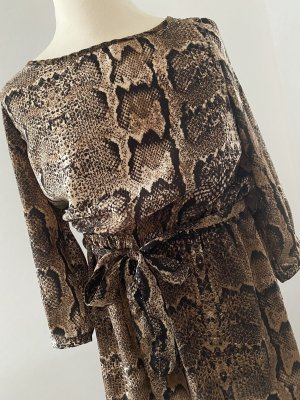 Edles Snake Print Kleid