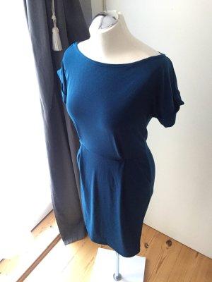 24Colours Robe de cocktail bleu acier-bleu pétrole