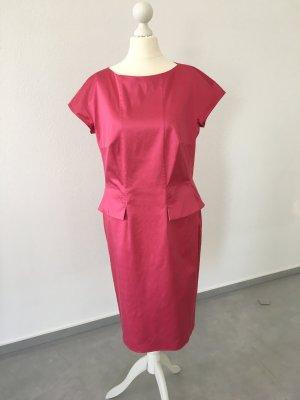 BOSS HUGO BOSS Sukienka z baskinką różowy Bawełna