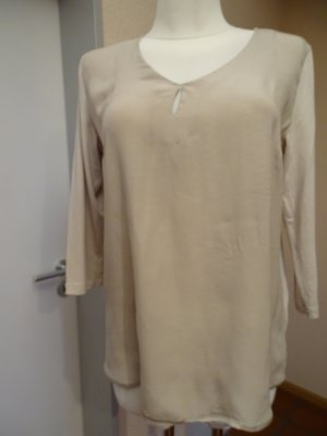 Riani Top in seta grigio chiaro-beige chiaro Seta