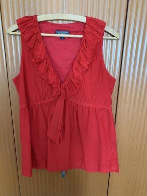Polo Jeans Co. Ralph Lauren Flounce Top red