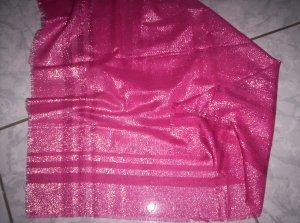 Edles Tuch mit Glitzer-Effekt, rosa-rot-silber, 75 x 75 cm