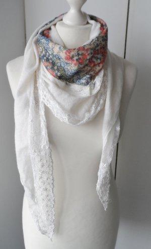 Neckerchief white mixture fibre