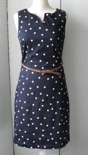 edles Vero Moda Kleid Gr. 38 Dunkelblau mit weißen Punkten