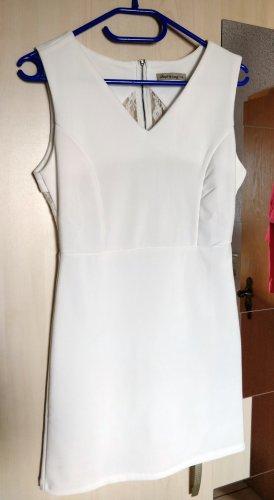 Edles weißes Kleid mit Spitze, Gr. S