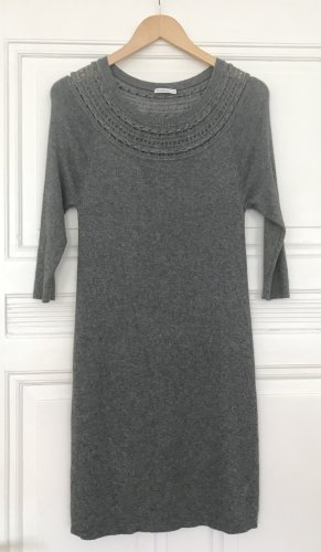 Marella Woolen Dress grey-light grey wool