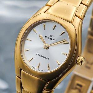 EDOX Montre avec bracelet métallique jaune fluo métal