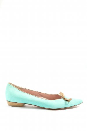 Eduard Meier Foldable Ballet Flats turquoise-brown casual look