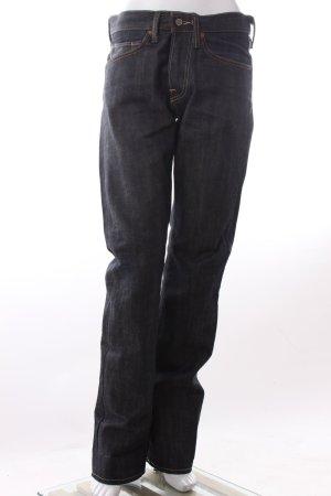 Jeans bootcut bleu-bleu foncé coton