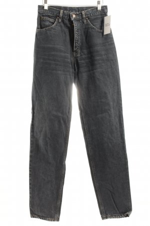 Edwin International Slim Jeans dunkelblau Used-Optik