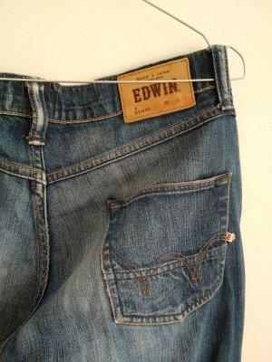 Edwin Jeansy typu boyfriend ciemnoniebieski