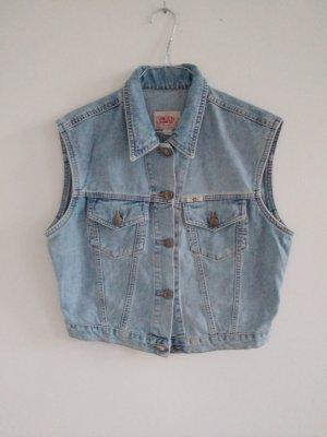 Edwin Gilet en jean bleu azur