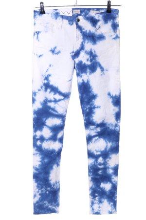 Edwin Slim Jeans blau-weiß Farbverlauf Casual-Look