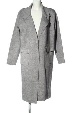 Effeny Abrigo de punto gris claro moteado look casual