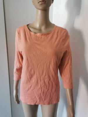 Efixelle Damen Baumwoll Shirt 3/4 Arm lachsfarben Größe 42