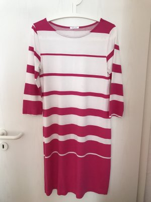 Efixelle Polo Dress pink-white cotton