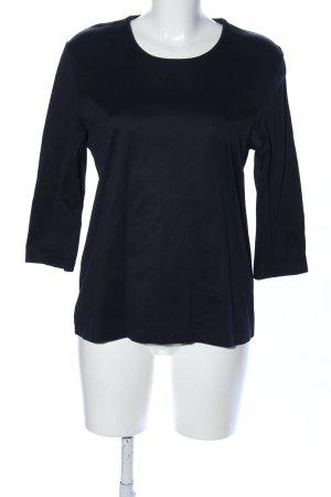 Efixelle Sweatshirt schwarz Business-Look